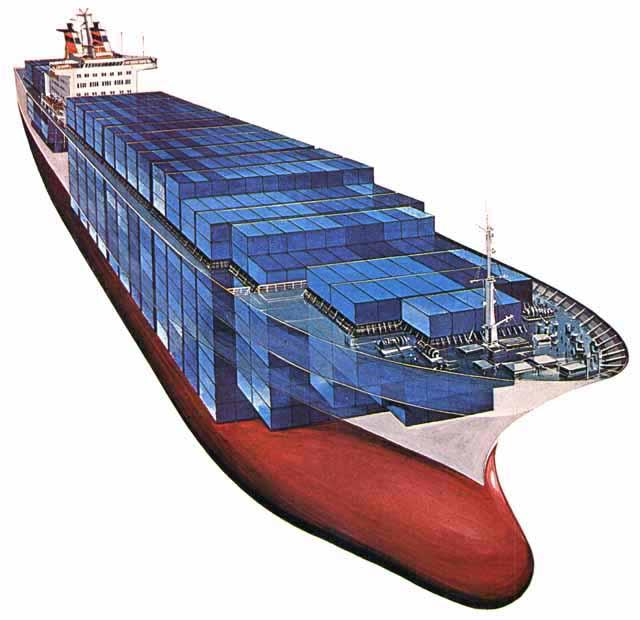 Большой контейнеровоз третьего